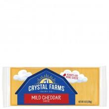 CRYSTAL FARMS CHEDDAR MILD 8oz