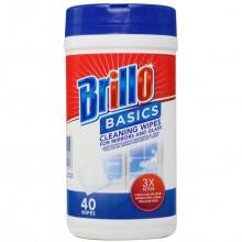 BRILLO BASICS WIPES BATHROOM 40s