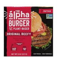 ALPHA ORIG BEEFY BURGER 9oz