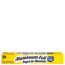BETTER VALUE ALUMINIUM FOIL 25sqft