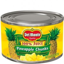 DEL MONTE PINEAPPLE CHUNK JUICE 8oz