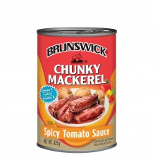 BRUNSWICK MACKEREL CHUNKY S/TOMATO 425g
