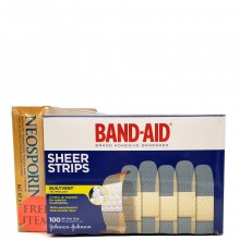 BAND-AID SHEER 3/4in 100s