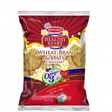 NATIONAL CRACKERS WHEAT BRAN OATS 112g