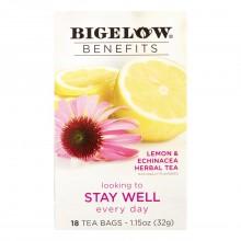 BIGELOW TEA BENEFITS STAY WELL 18s