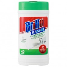 BRILLO BASICS WIPES CLEANING BLEACH 40s