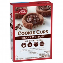 BETTY CRKR COOKIE CUPS CHOC FUDGE 397g