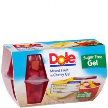 DOLE GEL MIXED FRUIT CHERRY 4x4oz