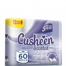 CUSHEEN TOILET TISSUE LAVENDER 12pk