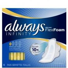 ALWAYS INFINITY FLEXFOAM REGULAR 18s