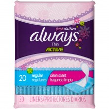 ALWAYS PANTY LINER THIN SCENTED 20s