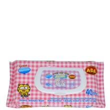 ADA BABY WIPES BABY POWDER 40s