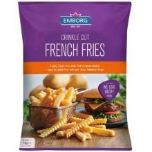 EMBORG FRENCH FRIES CRINKLE CUT 1kg