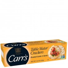 CARRS TBL WATER CRACKERS GARLIC 125g