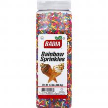 BADIA SPRINKLES RAINBOW 1.5lb
