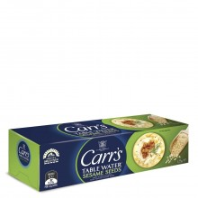 CARRS TBL WATER CRACKERS SESAME 125g