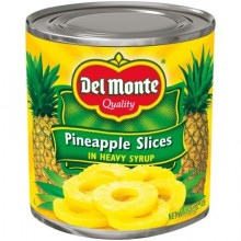 DEL MONTE PINEAPPLE SLICE SYRUP 15.5oz