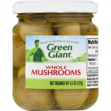 GREEN GIANT WHOLE MUSHROOMS 127g