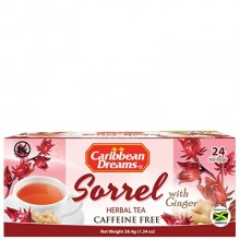 CARIB DREAMS TEA GINGER SORREL 24s