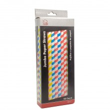 CHEF CRAFT PAPER STRAW JUMBO 50ct