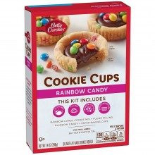 BETTY CRKR COOKIE CUPS RAINBW CANDY 397g