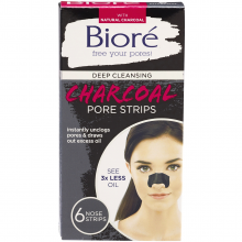 BIORE DEEP CLEANSE CHARCOAL STRIPS 6ct