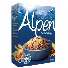 ALPEN CEREAL NO SUGAR 560g