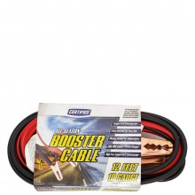 CERTIFIED BOOSTER CABLE 10  GAUGE 12ft