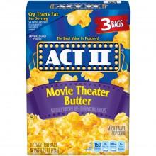 ACT II POPCORN MOVIE BUTTER 3pk