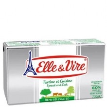 ELLE & VIRE BUTTER SALTED 60% FAT 200g