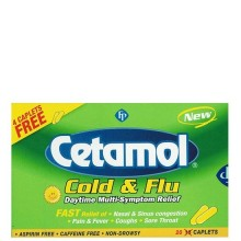 CETAMOL COLD&FLU DAYTIME 20s