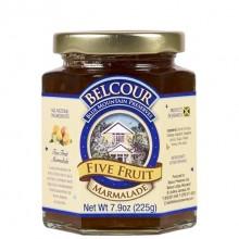 BELCOUR 5 FRUIT MARMALADE W/HONEY 7.9oz