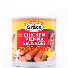 GRACE VIENNA CHICKEN SAUSAGE H&S 114g