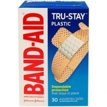 BAND-AID PLASTIC ASST 30s