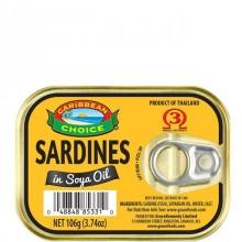 CARIB CHOICE SARDINES SOY OIL 106g