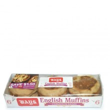 BAYS ENGLISH MUFFINS CINN RAISIN 6ct