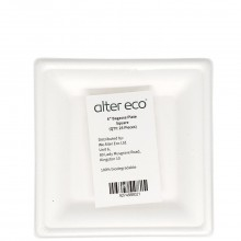 ALTER ECO BAGASSE PLATE SQUARE 6in 25ct