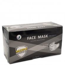 DISPOSABLE FACE MASKS BLACK 50s