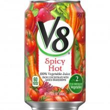 V8 VEGETABLE JUICE HOT&SPICY 340ml
