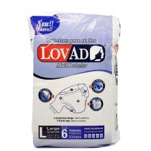 LOVAD ADULT BRIEFS LARGE 6s