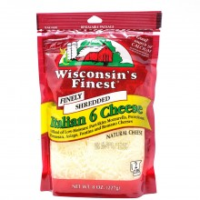 WISCONSIN FINEST SHRED ITALIAN 8oz