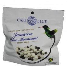 CAFE BLUE WHT CHOCOLATE COFFEE BEANS 3oz