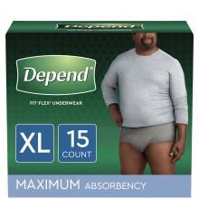 DEPEND UNDERWEAR (M) XL 15s
