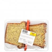 CAKE ALMOND POPPY slice