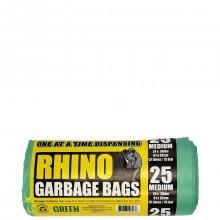 RHINO GREEN GARBAGE BAGS 24x36 25s