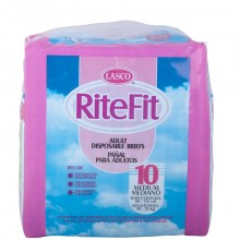 LASCO RITEFIT ADULT DIAPERS MED 10s