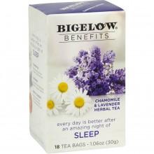 BIGELOW TEA BENEFITS SLEEP 18s