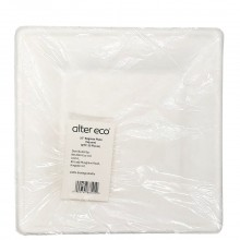 ALTER ECO BAGASSE PLATE SQUARE 10in 50ct