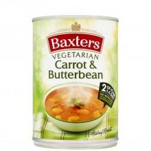 BAXTERS SOUP CARROT BUTTER BEAN GF 400g