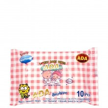 ADA BABY WIPES BABY POWDER 10s